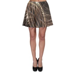 Metallic Copper Abstract Modern Art Skater Skirt by CrypticFragmentsDesign