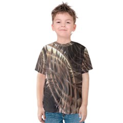 Metallic Copper Abstract Modern Art Kid s Cotton Tee by CrypticFragmentsDesign