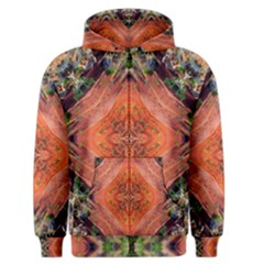 Boho Bohemian Hippie Floral Abstract Faded  Men s Zipper Hoodie by CrypticFragmentsDesign