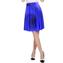 Blue Spiral Note A Line Skirt by CrypticFragmentsDesign
