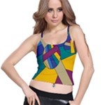 Unknown Abstract Modern Art By Eml180516 Spaghetti Strap Bra Top