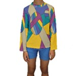 Unknown Abstract Modern Art By Eml180516 Kid s Long Sleeve Swimwear