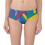 Unknown Abstract Modern Art By Eml180516 Mid-Waist Bikini Bottoms