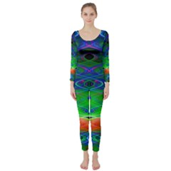 Neon Night Dance Party Long Sleeve Catsuit by CrypticFragmentsDesign