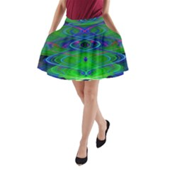 Neon Night Dance Party A Line Pocket Skirt by CrypticFragmentsDesign