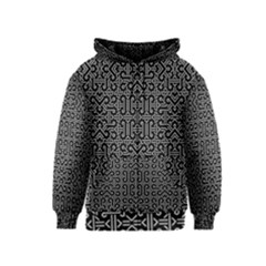 Black And White Ethnic Sharp Geometric  Print Kids  Zipper Hoodie by dflcprintsclothing