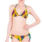 Bursting Star Poppy Yellow Violet Teal Purple Bikini Set
