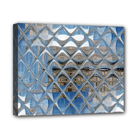 Mirrored Glass Tile Urban Industrial Canvas 10  X 8  by CrypticFragmentsDesign