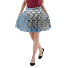 Mirrored Glass Tile Urban Industrial A Line Pocket Skirt by CrypticFragmentsDesign