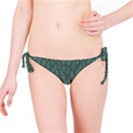 Whimsical Feather Pattern, Forest Green Bikini Bottom