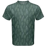 Whimsical Feather Pattern, Forest Green Men s Cotton Tee