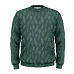 Whimsical Feather Pattern, Forest Green Men s Sweatshirt