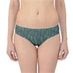 Whimsical Feather Pattern, Forest Green Hipster Bikini Bottoms