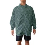 Whimsical Feather Pattern, Forest Green Wind Breaker (Kids)