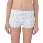 Whimsical Feather Pattern,fresh Colors, Reversible Boyleg Bikini Bottoms