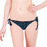 Whimsical Feather Pattern, Midnight Blue, Bikini Bottom