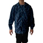 Whimsical Feather Pattern, Midnight Blue, Hooded Wind Breaker (Kids)