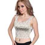 Whimsical Feather Pattern, Nature Brown, Crop Top