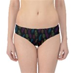 Whimsical Feather Pattern, Bright Pink Red Blue Green Yellow, Hipster Bikini Bottoms