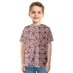 Interlace Tribal Print Kid s Sport Mesh Tee by dflcprintsclothing