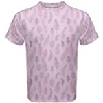 Whimsical Feather Pattern, pink & purple, Men s Cotton Tee