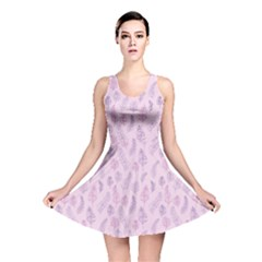 Whimsical Feather Pattern, Pink & Purple, Reversible Skater Dress by Zandiepants
