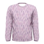 Whimsical Feather Pattern, pink & purple, Men s Long Sleeve Tee