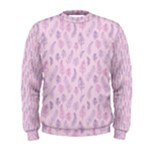 Whimsical Feather Pattern, pink & purple, Men s Sweatshirt
