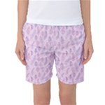 Whimsical Feather Pattern, pink & purple, Women s Basketball Shorts