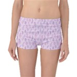 Whimsical Feather Pattern, pink & purple, Boyleg Bikini Bottoms