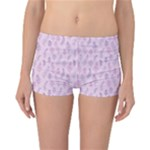 Whimsical Feather Pattern, pink & purple, Reversible Boyleg Bikini Bottoms