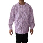 Whimsical Feather Pattern, pink & purple, Hooded Wind Breaker (Kids)