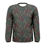 Whimsical Feather Pattern, autumn colors, Men s Long Sleeve Tee