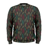 Whimsical Feather Pattern, autumn colors, Men s Sweatshirt