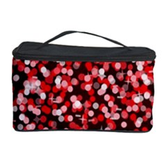 Red Glitter Rain Cosmetic Storage Cases by KirstenStar