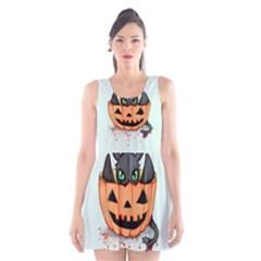 Halloween Dragon Scoop Neck Skater Dress by lvbart