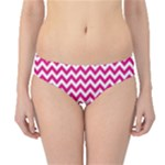 Hot Pink & White Zigzag Pattern Hipster Bikini Bottoms