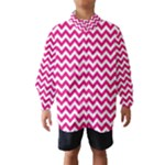 Hot Pink & White Zigzag Pattern Wind Breaker (Kids)