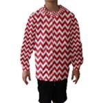 Poppy Red & White Zigzag Pattern Hooded Wind Breaker (Kids)
