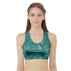 Tropical Hawaiian Print Women s Sports Bra With Border by dflcprintsclothing
