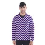 Royal Purple & White Zigzag Pattern Wind Breaker (Men)