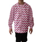 Soft Pink & White Zigzag Pattern Hooded Wind Breaker (Kids)