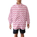 Soft Pink & White Zigzag Pattern Wind Breaker (Kids)
