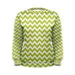 Spring Green & White Zigzag Pattern Women s Sweatshirt