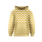 Sunny Yellow & White Zigzag Pattern Kids  Pullover Hoodie