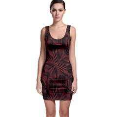 Sharp Tribal Pattern Sleeveless Bodycon Dress by dflcprintsclothing