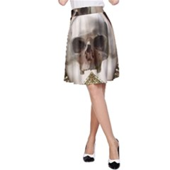 Skull Magic A Line Skirt by icarusismartdesigns