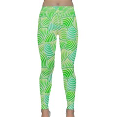 Green Glowing Yoga Leggings