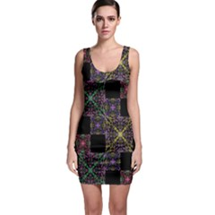 Ornate Boho Patchwork Sleeveless Bodycon Dress by dflcprintsclothing