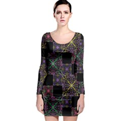 Ornate Boho Patchwork Long Sleeve Bodycon Dress by dflcprintsclothing